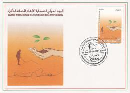 DZ Algérie 1681 4 Avril - FDC Journée Internationale Des Victimes Des Mines Antipersonnels Victimes Handicap - Algeria (1962-...)