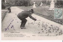 SCIPION L'AFRICAIN PARIS LE CHARMEUR D'OISEAUX AUX TUILERIES 1905 - Petits Métiers à Paris