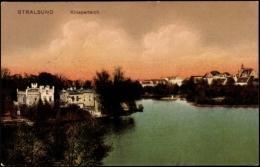 Cp Stralsund In Mecklenburg Vorpommern, Partie Am Knieperteich, Häuser Am Ufer - Other