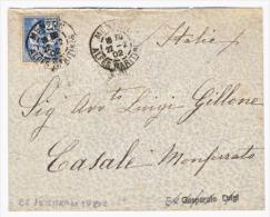 1902 - Mouchon 25 C. Bleu (voir La Description). - Lettres & Documents
