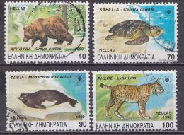 GREECE 1990 Rare And Endangered Animals In Greece  Used Set  Vl. 1794 / 1797 - Griekenland