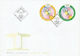 Switzerland 2000 Sydney Olympics FDC - Ete 2000: Sydney