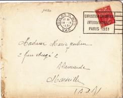 14280# FEMME FACHI LETTRE CUIRASSE JEAN BART Obl TOULON S\ MER VAR 1931 EXPOSITION COLONIALE INTERNATIONALE PARIS - 1921-1960: Periodo Moderno