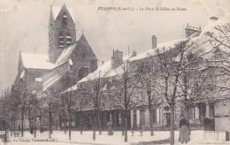 CACHET ECOLE D'AVIATION MILITAIRE D'ESTAMPES  FM SUR CPA  LA PLACE ST GILLES EN HIVER - War 1914-18