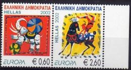 EUROPA -CEPT 2002 - GRECE - 2 Val  NEUF ** (MNH) LE CIRQUE // CV €10 - 2002