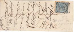 Bagni Di S. Giuliano. 1866. Annullo Numerale Doppio Crechio Punti. Non Classificato. - 1861-78 Vittorio Emanuele II
