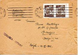 YOUGOSLAVIE. N°422 De 1945 Sur Enveloppe Ayant Circulé. Partisans. - Covers & Documents