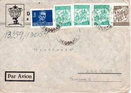 YOUGOSLAVIE. N°422-3 De 1945 Sur Enveloppe Ayant Circulé. Partisans/Tito. - 1945-1992 République Fédérative Populaire De Yougoslavie