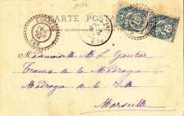 14327# LETTRE LE VALLON SOURD Obl CORRENS VAR 1904 FB 84 FACTEUR BOITIER TRAVERSE DE LA MADRAGUE CHATEAUVERT - Marcofilie (Brieven)