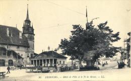 FRIBOURG - Hôtel De Ville Et Le Tilleul De Morat - FR Fribourg