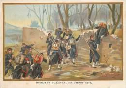 G. GERMAIN : Beau Chromo, Bataille De Buzenval - (18 Janvier 1871) - Nanterre
