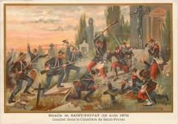 G. GERMAIN : Beau Chromo, Bataille De Saint-Privat (18 Août 1870) - Otros Municipios