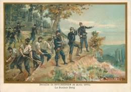 G. GERMAIN : Beau Chromo, Bataille De Spicheren (6 Août 1870) - Otros Municipios