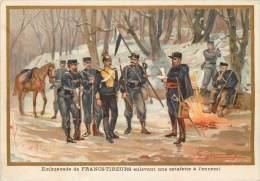 G. GERMAIN : Beau Chromo, 1870 - Embuscade De Francs-Tireurs Enlevant Une Estafette à L'ennemi - Otras Guerras