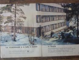 ADVERTISING PUBBLICITA´ VOLKSWAGEN IN TUTTO IL MONDO ....IN SVEZIA  -- 1964 -  OTTIMO - Werbung