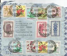 Luftpost Beleg Belgisch Congo 1957 MeF  Leopoldville-Stockholm ( Beleg Hat Mängel ) - Bélgica
