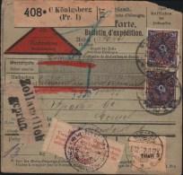 DEUTSCHES REICH - PAKETKARTE 1922 KÖNIGSBERG -> MEMEL - Germany