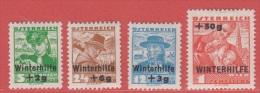 1935 * (avec Charn., MH, Falz)   Yv  467/70      Mi  613/6        ANK 613/6 - Ungebraucht