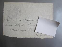 Carte Lette (Tampon Base Militaire Française De Tarente - Italie) 1919 - Poststempel (Briefe)