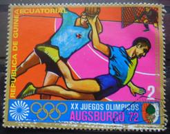 GUINEE EQUATORIALE Timbre Jeux Olympiques Munich 1972 Oblitéré - Equatoriaal Guinea