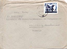 YOUGOSLAVIE. N°581 De 1951 Sur Enveloppe Ayant Circulé. Révolution Populaire. - 1945-1992 République Fédérative Populaire De Yougoslavie
