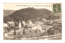 CPA 39 - Orgelet : Ecrilles & La Motte : Village - église - Relief - Francia