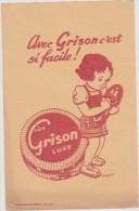Buvard : GRISON  ,  Enfant  , Paris - Unclassified
