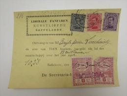 Cpa/pk 1922 Liberale Fanfaren Kunstliefde Zaffelare Saffelaere Ciciliafeest - Lochristi