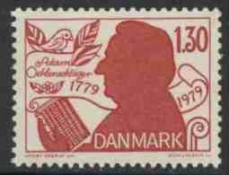 Danmark Denmark Dänemark 1979 Mi 694 YT 695 ** Adam Oehlenschläger (1799-1850) Poet, Playwright, National Anthem