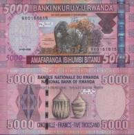 RWANDA 5.000 Francs 2009 UNC , P-37 - Rwanda