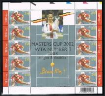 Année 2003 - Feuillet De 10 - COB 3226** -  Tennis - Kim Cliysters-   Cote 13,00€ - Panes