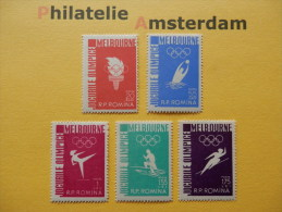 Romania 1956, OLYMPICS MELBOURNE: Mi 1598-02, **