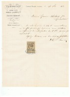 J. G. BIDEAU & Cie  ANCIENNE SOCIETE BARBIER DAUBREE & Cie CAOUTCHOUC à CLERMONT FERRAND 1883 - 1800 – 1899