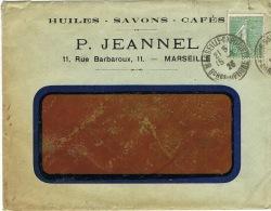 ENVELOPPE EN TETE A FENETRE P JEANNEL MARSEILLE - France