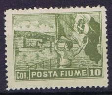 Fiume Sass 56 I Perfo 13 X 12,50,  Unused, MH Neuf* - 8. WW I Occupation