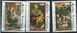 """Centrafrique : Y&T(o) PA 324 à 326 NOEL """" Tableaux Divers"""" - Kerstmis"""