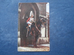 Tuck  - Whitehall, Sentry On Guard - The Military In London - N° 6412 - Circulée 1907 - L196 - Tuck, Raphael