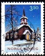 NORWAY 1993 Christmas - 3k50 Store Mangen Chapel  FU - Norwegen