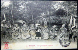 VIETNAM  INDOCHINE SAIGON  TROUPE THEATRALE ANNAMITE - Viêt-Nam