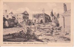 AK Brest-Litowsk - Das Zerstörte Bierbrauer-Viertel (13956) - Weißrussland