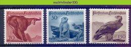Naa2027 FAUNA VOGELS MARMOT MAMMALS EAGLE BIRDS VÖGEL AVES OISEAUX LIECHTENSTEIN 1947 ONG/MH - Timbres