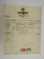 Facture Invoice Galena Motor Oil Pennsylvania Ritz Freres Bruxelles Brussel 1937 - Cars
