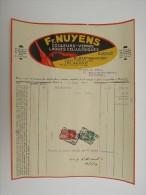 Facture Invoice Fr.Nuyens Couleurs Vernis Forest Bruxelles Vorst - Belgique