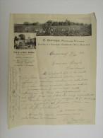 Facture Invoice Vins Gontier Viticulteur Chateau La Glacière Cugnaux Haute Garonne 1932 - Agriculture