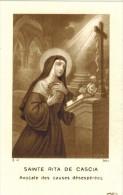 """IMAGE PIEUSE HOLY Card Santini : """" Sainte Rita De Cascia Avocate Des Causes Désespérées """" - Images Religieuses"""