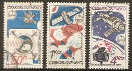 TCHECOSLOVAQUIE    -    ESPACE  /  COSMOS    -    Oblitérés - Space
