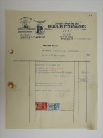 Facture Invoice Chauffage Automatique Mazout Charbon Sabrulec Bruxelles Forest Vorst Volxem SA Brûleurs économiques 1937 - Electricity & Gas