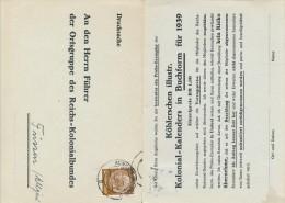 MINDEN - 1938 , An Den Führer Der Ortsgruppe Des Reichs-Kolonialbundes - Deutschland