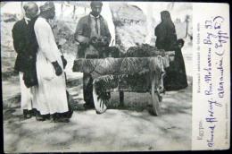 EGYPTE PETIT METIER  MARCHAND AMBULANT DE FRUITS SECS  COMMERCE BEAU PLAN  TIMBRES ET CACHETS - Non Classés