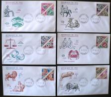 MALI, Astrologie, Zodiaque,  YVERT N° 185/96  FDC, Enveloppe 1er Jour - Astrologie